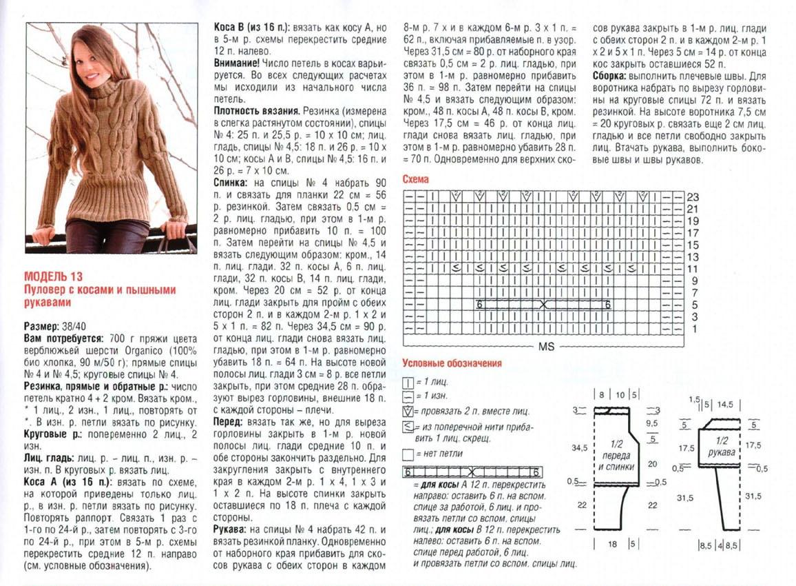 Вязание спицами для женщин косы жгуты 42
